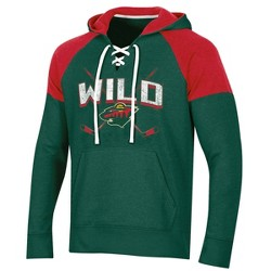 NHL Minnesota Wild Men's Hat Trick Laced Hoodie