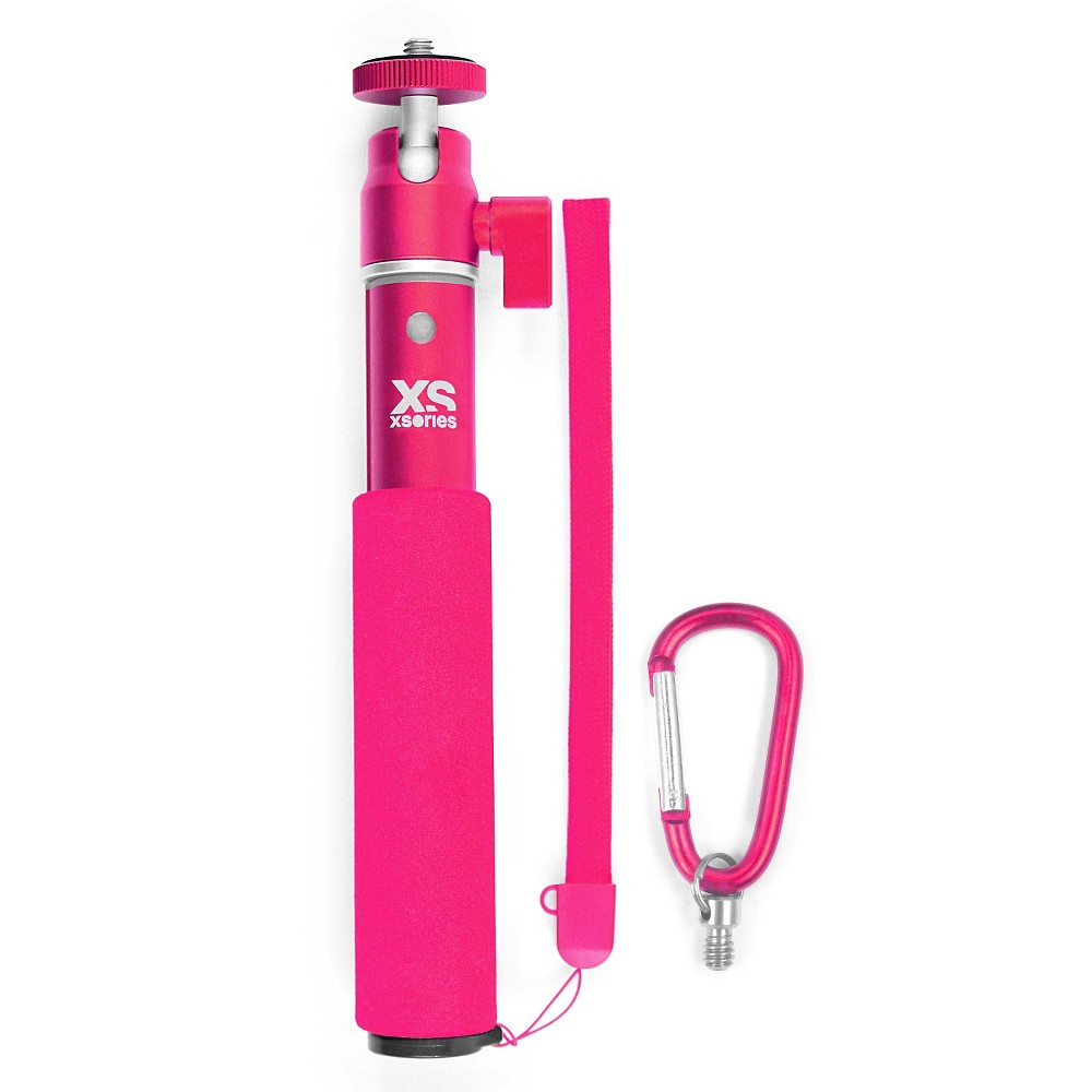 Xsories U-Shot Telescoping Camera Pole with GoPro Compatible Tripod Mount, Fits All GoPro Cameras and Digital Cameras - Pink