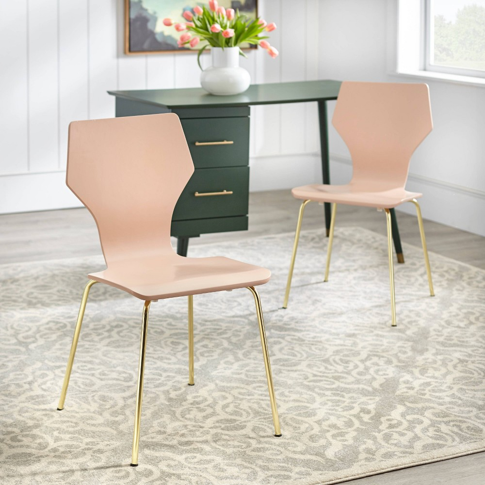 Image of Set of 2 Enna Bentwood Chair Pink - angelo : Home