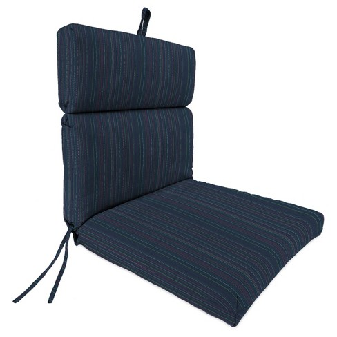 Outdoor French Edge Dining Chair In Sunbrella EscaPade Twilight - Jordan Manufacturing - image 1 of 2