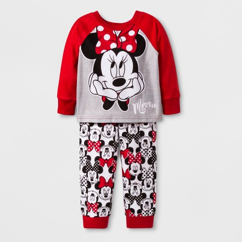 9d8826000d2a Toddler Girls  Minnie Mouse 2pc Pajama Set - Red 2T   Target