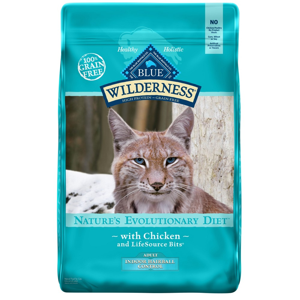Blue Buffalo Wilderness 100% Grain-Free Chicken Adult Indoor Hairball Control Dry Cat Food - 9.5lb
