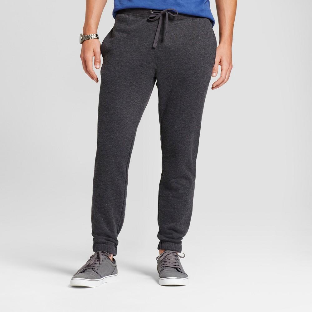 Men's Fleece Jogger Pants - Goodfellow & Co Charcoal (Grey) L