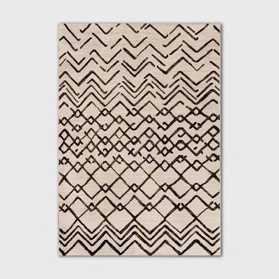 7' x 10' Peaks Outdoor Rug Gray/Cream - Project 62™