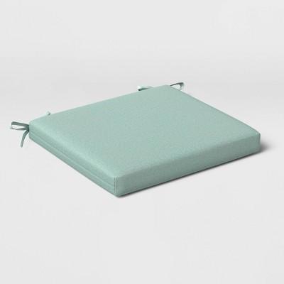 2pk Outdoor Seat Cushions DuraSeason Fabric™ Aqua - Threshold™