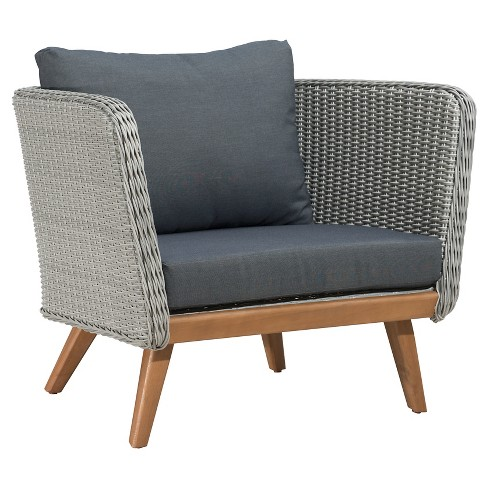 Mid Century Modern Outdoor Arm Chair Naturalgray Zm Home Target