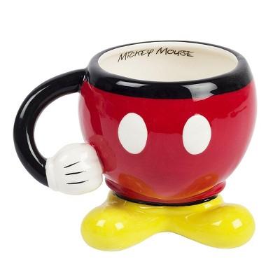 Fashion Accessory Bazaar LLC Disney Mickey Mouse Red Molded Mug with Arm