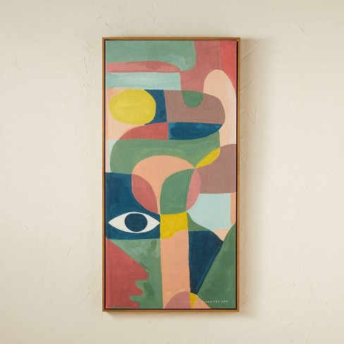 """18"""" x 36"""" Curvy Framed Wall Art - Opalhouse™ designed with Jungalow™ - image 1 of 4"""