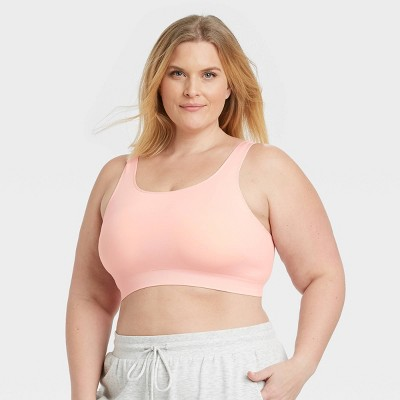 Women's Plus Size Comfort Bralette - Auden™ Pink