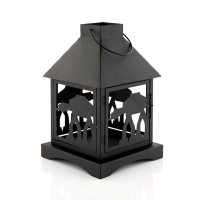 Seven20 Star Wars Black Stamped Lantern | Imperial AT-AT Walker | 12 Inches Tall