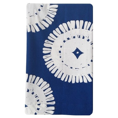 Printed Shower Curtain Medallion Blue White