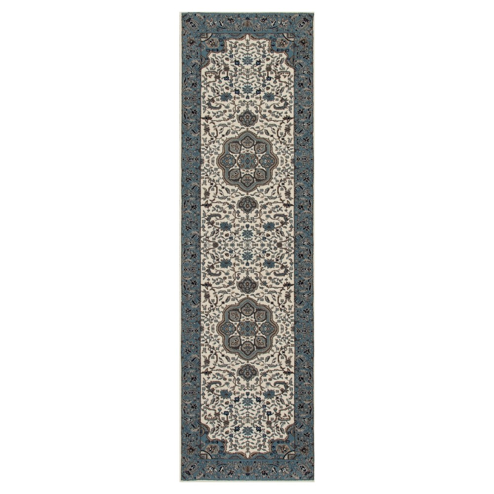 Image of Cream Classic Woven Area Rug - (2'X8') - Art Carpet