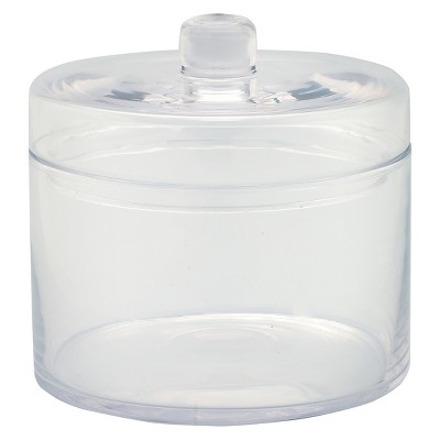 Diamond Star Glass Apothecary Jar with Lid Clear (6.5 x6.5 )