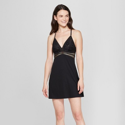 Women's Lightly Lined Chemise - Gilligan & O'Malley™ Black M