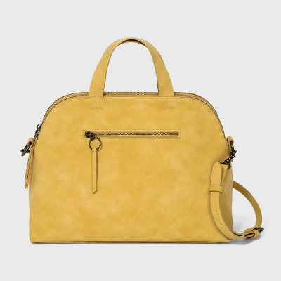 Magnetic Closure Satchel Handbag - Universal Thread™ Yellow