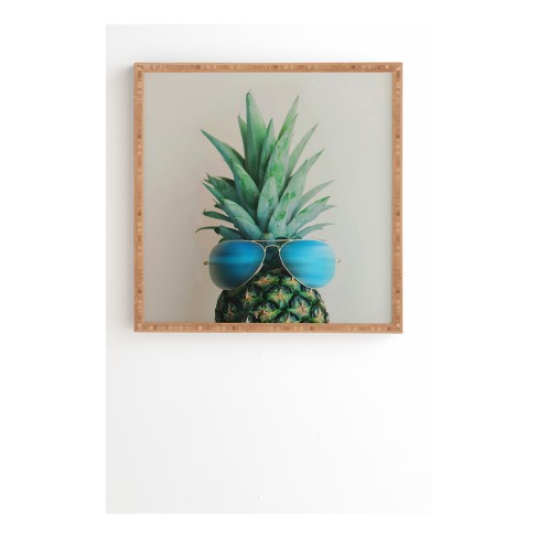 Chelsea Victoria Pineapple In Paradise Framed Wall Art by Deny Designs - image 1 of 1