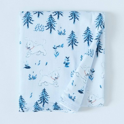 Patina Vie Muslin Quilt Blanket - Puppy