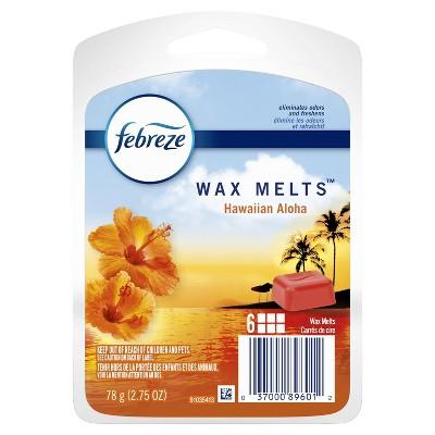 Febreze Odor-Eliminating Wax Melts Air Freshener Refills - Hawaiian Aloha - 6ct