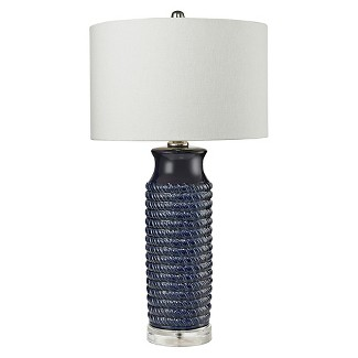 Lazy Susan Navy Rope Table Lamp (Lamp Only)
