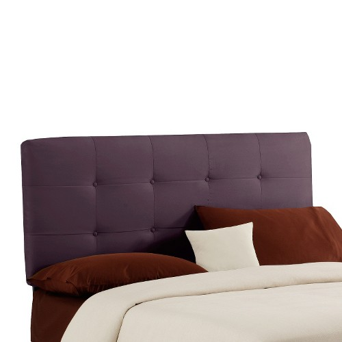 Dolce Microsuede Headboard - Premier Purple - King - Skyline Furniture