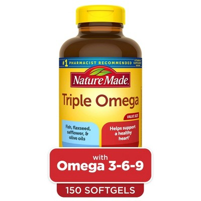 Nature Made Triple Omega 3 - 6 - 9 Softgels - 150ct