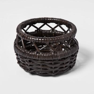Woven Rattan Basket Small Brown - Threshold™