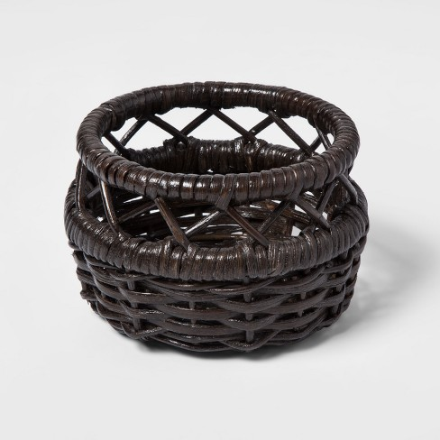 Woven Rattan Basket Small Brown - Threshold™ - image 1 of 1