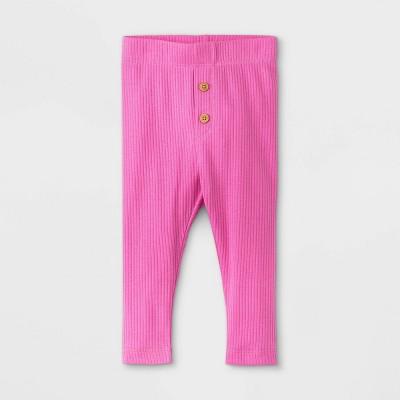 Baby Girls' Rib Leggings - Cat & Jack™ Pink 18M