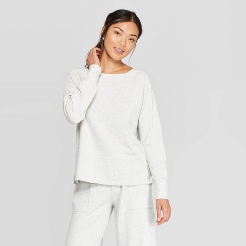 Women's Beautifully Soft Fleece Lounge Sweatshirt - Stars Above™  - image 1 of 2