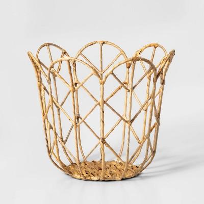 Tulip Shaped Woven Basket - Pillowfort™