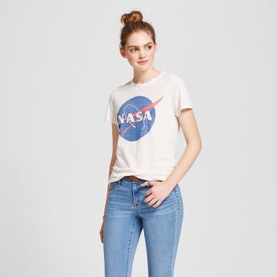 Women's NASA® Graphic T-Shirt Cream XXL - Zoe+Liv (Juniors')