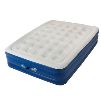 "Serta Perfect Sleeper 18"" Raised Double High Queen Air Mattress with Electric Pump"