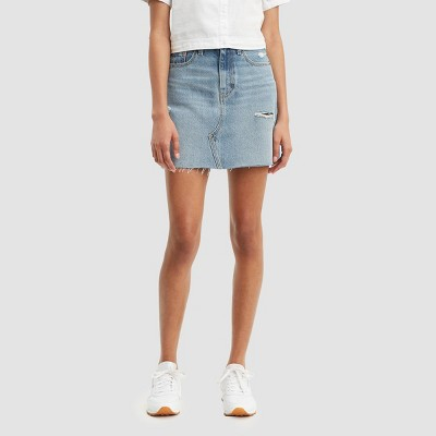 Levi's® Women's High-Rise Iconic Mini Jean Skirt - Light Blue