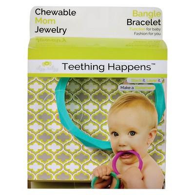 Itzy Ritzy Teething Happens™ Chewable Mom Jewelry - Bangle - Turq