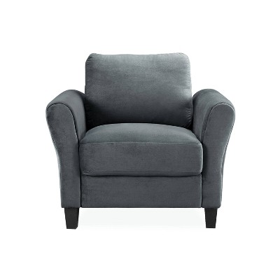 Willow Microfiber Chair with Rolled Arms - Lifestyle Solutions