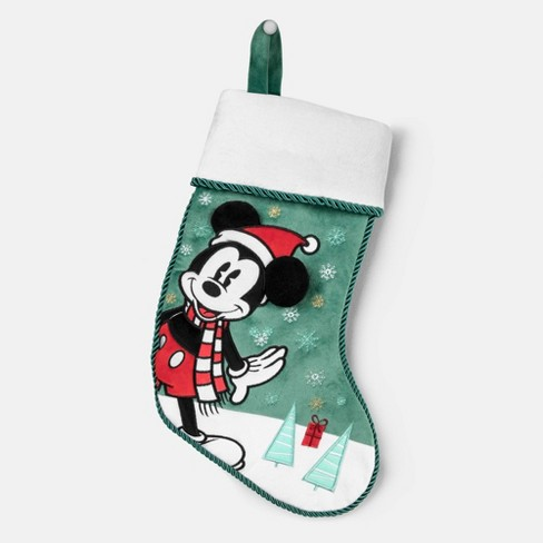 Christmas Stockings Cartoon.Mickey Mouse Christmas Stocking Red Green Disney Store At Target Exclusive