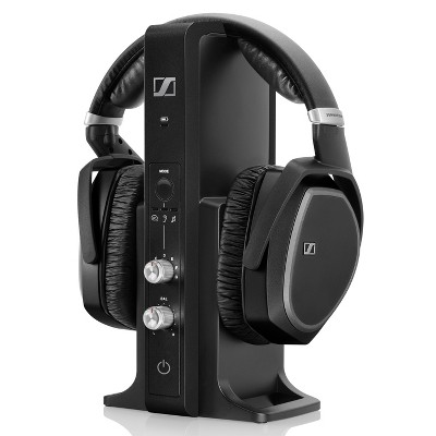 Sennheiser RS195 Over-Ear Closed Headphone with 100m Range Transmitter (Black)