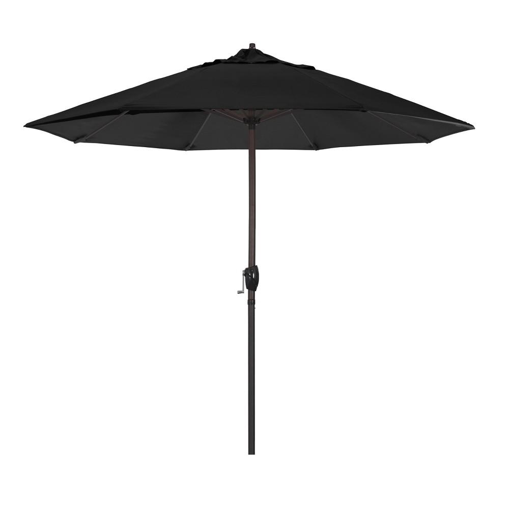 Image of 9' Aluminum Auto Tilt Crank Lift Patio Umbrella - Black