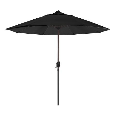9' Aluminum Auto Tilt Crank Lift Patio Umbrella - California Umbrella - 9' Aluminum Auto Tilt Crank Lift Patio Umbrella - Black : Target