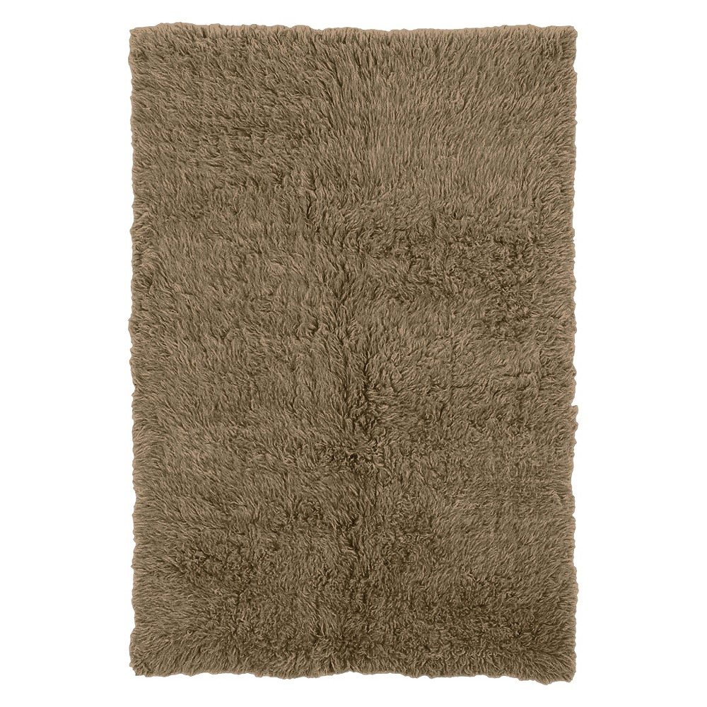 Image of 100% New Zealand Wool Flokati Accent Rug - Mushroom (2'X6'), Beige