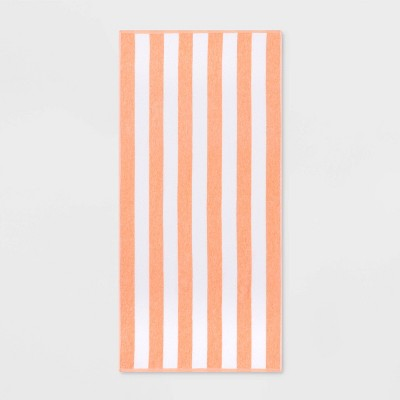 Cabana Striped Beach Towel Pink - Sun Squad™