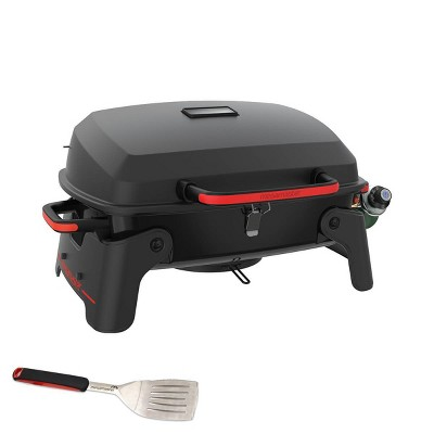Megamaster Portable 1 Burner 820-0065CSP Tabletop Grill with Stainless Steel Spatula