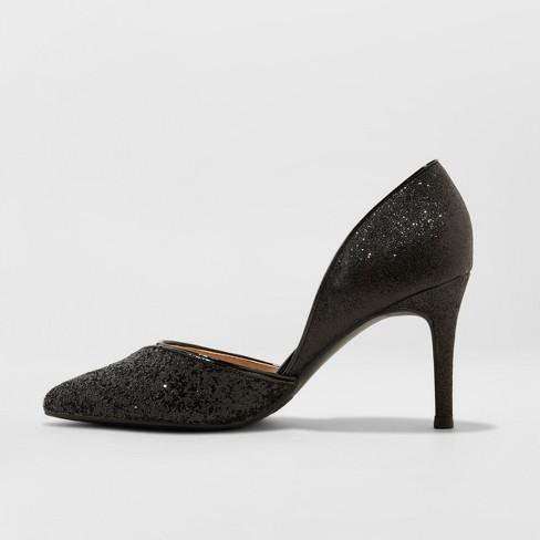 d40a64cc0a3 Women's Leorah Shimmer Heeled Pumps - A New Day™ Black