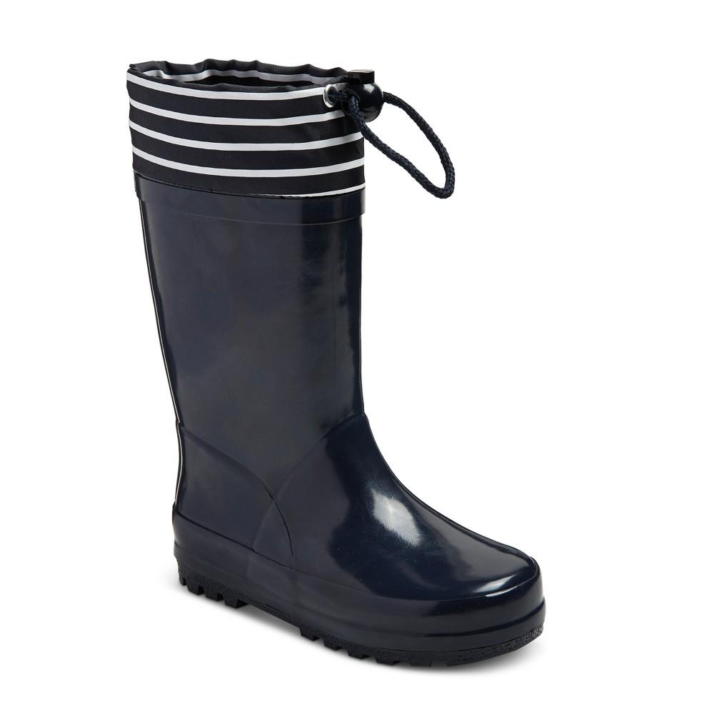 Toddler Boys' Bungie Top Rain Boots - Cat & Jack Navy M, Size: M (7-8), Blue