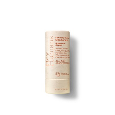 Hey Humans Natural Deodorant Rosewater Ginger - 2oz