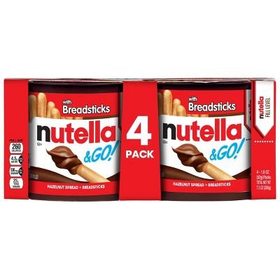 Nutella & Go! Hazelnut Spread & Breadsticks - 1.8oz/4pk