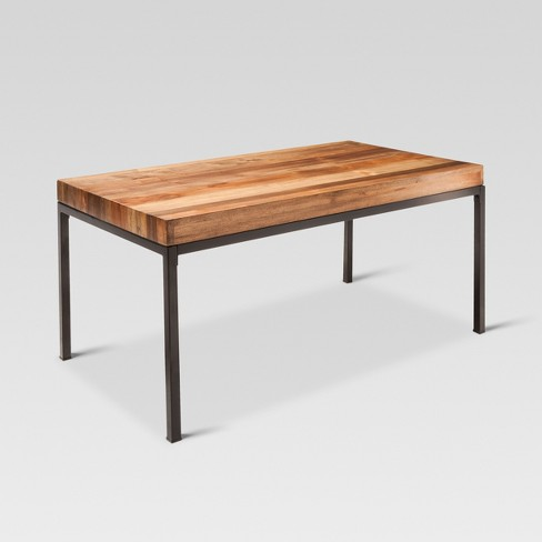 Hernwood Mixed Material Coffee Table Brown Threshold