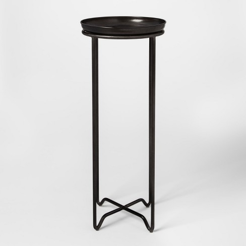 Metal Plant Stand With Galvanized Tray Tall Smith Hawken