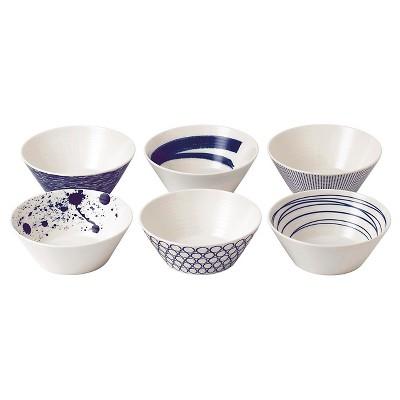 Royal Doulton® Pacific Porcelain 8oz. Bowls Set of 6 White