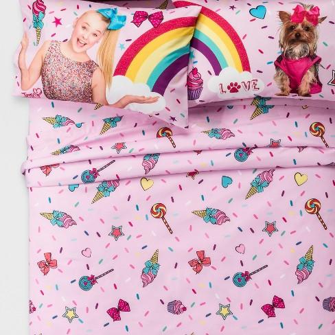 JoJo Siwa Full 4pc Sheet Set Pink - image 1 of 4